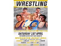 LIVE WRESTLING IN LIVINGSTON THIS SATURDAY - FAMILY FRIENDLY