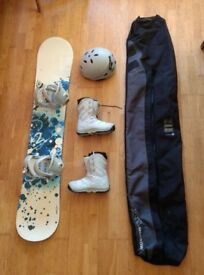 Women's K2 Snowboard + Bindings + Boots + Helmet + Travel Bag £100 obo.