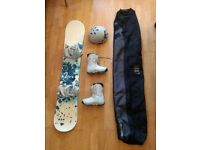 Women's K2 Snowboard + Bindings + Boots + Helmet + Travel Bag £100 obo.