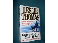 Dangerous by Moonlight by Leslie Thomas signed copy