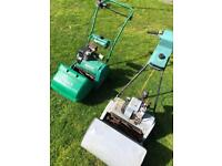 2x Petrol cylinder mowers Self Propelled engines r good & run need TLC winter project suit go kart