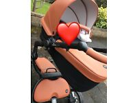 Stylish Trendy Mima Xari Tan Pram with Carrycot