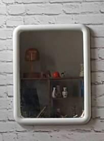 Vintage Retro 50s 60s 70s Mid Century FINN Finish Space age Wall Bathroom Mirror. SDHC