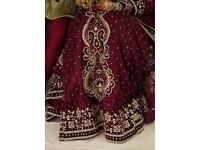 Heavily embroided Plum Indian bridal wear (Price negotiable)