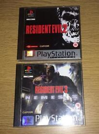 Resident Evil 2 & 3 PS1 Games Bundle