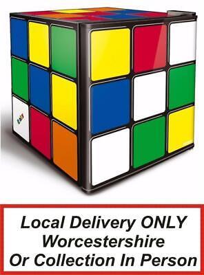 Husky HU231 Rubik's Cube Mini Beer Fridge / Drinks Chiller 43L PWB -COLLECT ONLY