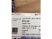 Kylie Golden Tour Nottingham 2 Tickets