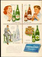 Large (10 ½  by 13 ½ ) 1948 full-page color ad for Canada Dry