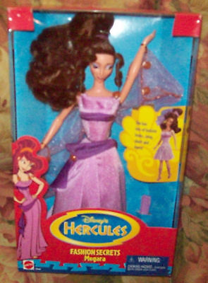 RARE 1996 Disneys Hercules Fashion Secrets Megara Doll