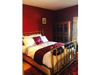 Excellent Quality Double Divan Bed & Brass Bedstead