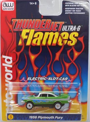 HO Slot Car - Auto World ThunderJet Ultra-G- FLAMES -
