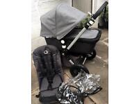 Bugaboo Cameleon 3 Grey Melange Pram and Pushchair