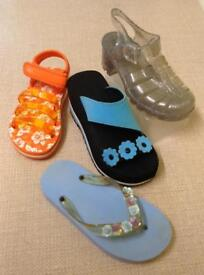 4 Pairs of Sandals, Size 13