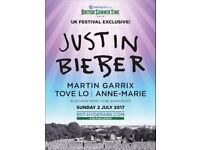 2 x Justin Bieber BST Hyde Park **PITCH STANDING** Tickets ; Sunday 2nd July'17 **TICKETS IN HAND**