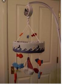 Mothercare whale bay cot mobile