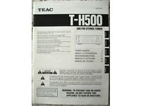 JOB LOT TEAC, KEF CODA II & SONY HI-FI MANUALS - T-H500, PD-H500i, SONY TC-800A - £7.50 ono