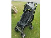 Maclaren techno XT stroller with raincover and optional Lascal Maxi buggy board