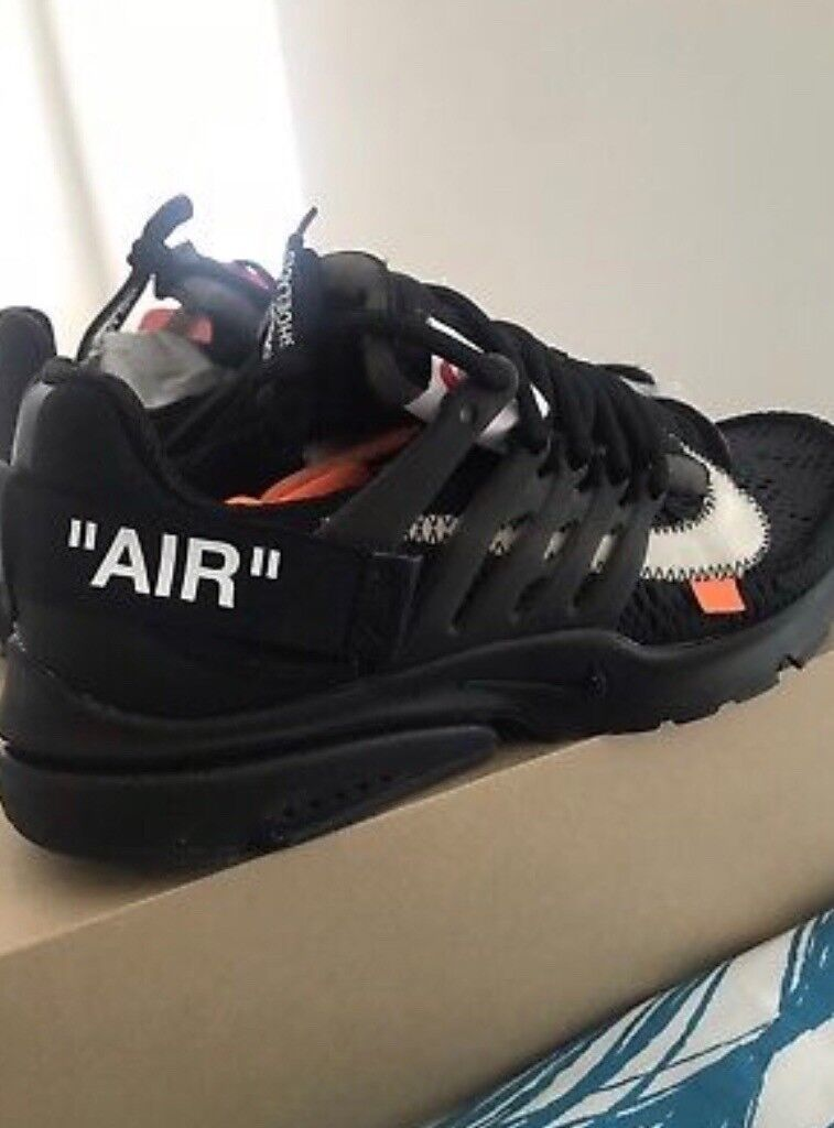 67a867397f9e Nike Off White Black Presto Size 9 UK Brand new in Box with tags 100%  authentic