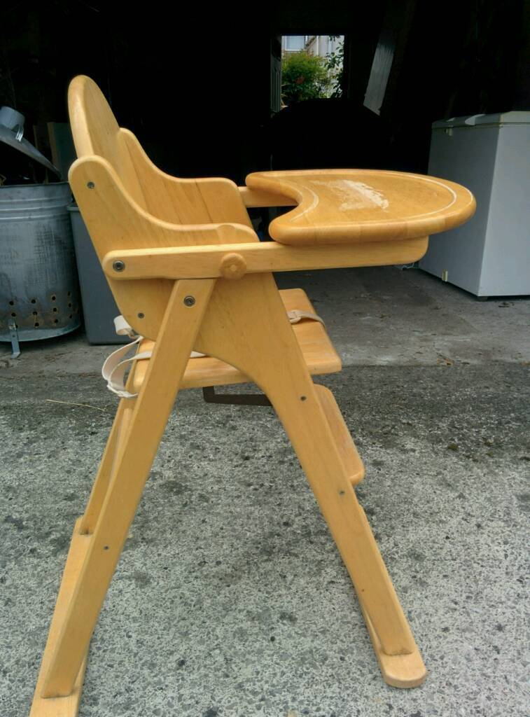 Good Price Folding Wooden High Chair In Fishponds Bristol Gumtree