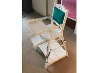 Lovely vintage high chair, folds into table & chair, excellent condition