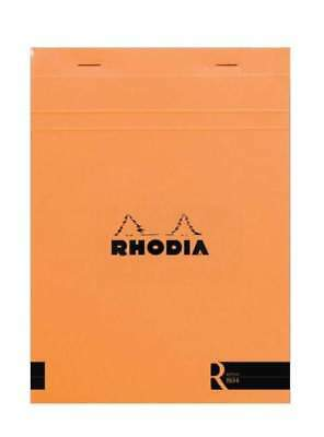 Rhodia Staplebound - R Premium Notepad - Orange - Lined - 70 Sheets - 6 X 8.25