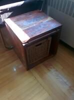 Table d'appoint Artemano en bois exotique
