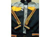 Brand New Adidas Tracksuit - Jacket+Bottoms (Grey/Orange)