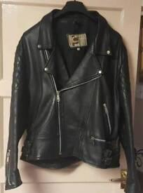 70s Biker Leather jacket