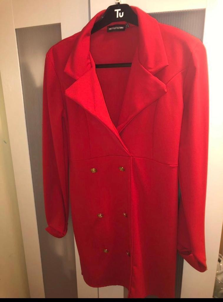 8662d84f17af Pretty Little Thing red blazer dress size 12 | in Birmingham City Centre ...
