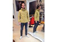 £40 ono BARGAIN, Perfect condition like new Pretty Green Sevenoaks Jacket Khanki Sand (yellow) - XL