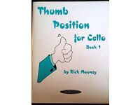Cello sheet music (Rick Mooney's Position Pieces and Thumb position, and Smooth groove)