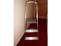 Used 3 Tread Aliminium Platform Steps Ladders