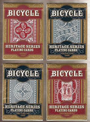 4 DECKS Bicycle Heritage Series playing cards