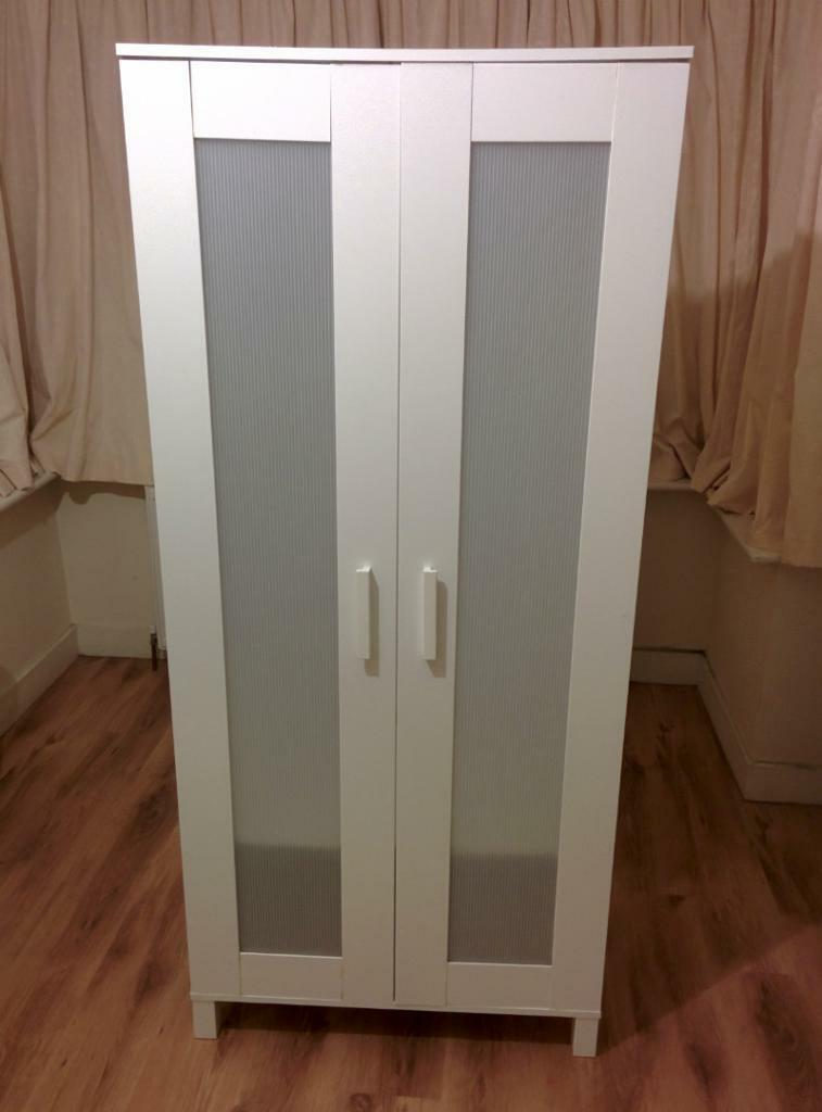 Second Hand White Aneboda Wardrobes In Wembley London