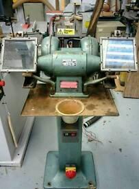 "Arboga EP 308 8"" Industrial Pedestal Grinder. Ex high school. Swedish made."