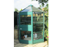 7-SIDED METAL 7 GLASS GREENHOUSE