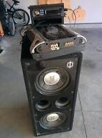 Subwoofer, Amp, and Deck