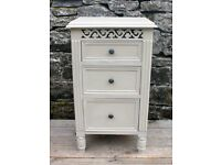 X1 Bedside Table - Shabby Chic - Hand Painted in Annie Sloan Country Grey Chalk Paint