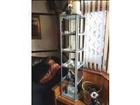 1x Display Cabinet 5 tier 9cm glass Shelves Rota These beautiful