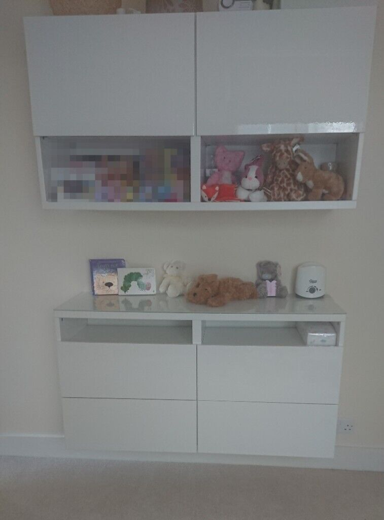 Ikea Besta Wall Mounted Storage Unit Cabinet Shelves Drawers In White Gloss Great Condition Reading Berkshire Gumtree