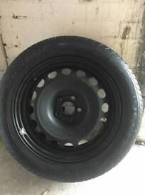 Dunlop Tyre and metal rim 205 55 16
