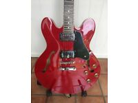 TOKAI 335 SEMI ELECTRIC GUITAR FLAMED MAPLE CHERRY RED- WITH CASE