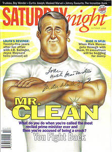 Former PM Mulroney Autog a Sat. Mag Cover $164.00