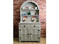 Vintage Shabby Chic Welsh Dresser Farmhouse in Light Grey