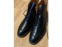 Joseph Cheaney, Cheaney Sadie Ladies Derby Cap Boot in Black Calf Leather, Size UK 3.5. Nearly New