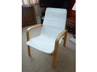 Ikea armchair (Poang) with cream cotton cover