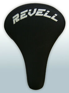 Revell-Padded-BMX-Dirt-Jump-Seat-Saddle-Cr-Mo-Rail-BLACK-NEW
