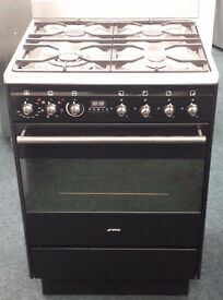 Smeg 60cm dual fuel cooker in black