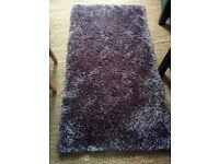 Mauve rug from Dunelm Mill - 80 x 150cm