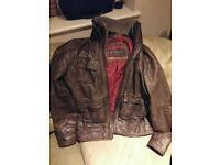 Superdry Leather Flight Jacket XL